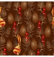 xmas seamless pattern Include bell pine vector image