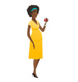 young pregnant woman holding a glass of wine vector image vector image