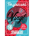 Color vintage music shop poster vector image