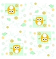 Seamless owls pattern background vector image