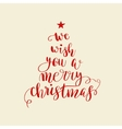 Calligraphy lettering Christmas tree vector image