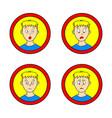 set of comic boy vector image