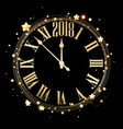 2018 new year background with clock vector image