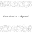 Abstract gears background Background for header vector image