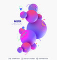 abstract poster design vector image