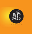 ac a c logo made of small letters with black vector image vector image