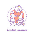 accident insurance concept icon vector image vector image