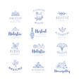 alternative medicine logos vector image vector image