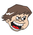 angry boy vector image vector image