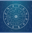 astrology magic circle zodiac signs on horoscope vector image