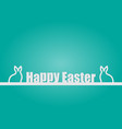 background happy easter day vector image