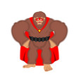 bigfoot superhero super yeti in mask and raincoat vector image vector image
