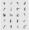 Black Barber Shop Icons vector image vector image