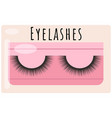 black false eyelashes icon in a pink transparent vector image