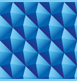 blue triangles seamless pattern vector image vector image