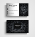 Business card with dark abstract triangles vector image vector image