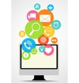 Business Internet on Different Electronic Devices vector image vector image
