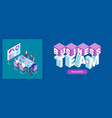 business team banner vector image