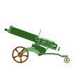 cannon artillery gun war old army weapon military vector image vector image