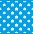 canvas pattern seamless blue vector image