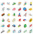 cash department icons set isometric style vector image vector image