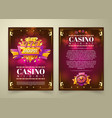 casino flyer banner vector image vector image