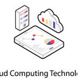 cloud computing technology isometric icon vector image vector image