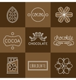 Cocoa Icon set vector image vector image