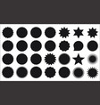 collection star burst stickers price tag icon vector image