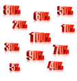 Discount numbers vector image vector image