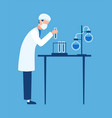 doctor in science hospital laboratory biologist vector image