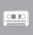 draw a doodle listen to the previous song vector image vector image