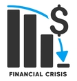 Financial Crisis Icon With Caption vector image vector image