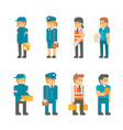 flat design delivery messenger staffs vector image vector image