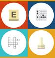 flat icon play set of pawn gomoku mahjong and vector image vector image