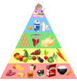 food pyramid chart vector image
