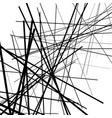 geometric art of random intersecting lines vector image
