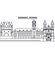 germany worms line skyline vector image vector image