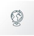 globe icon line symbol premium quality isolated vector image