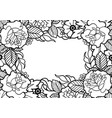 graphic floral design vector image vector image