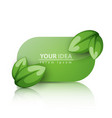 green leaf banner with reflect vector image