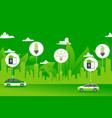 green power environment city electric car concept vector image