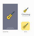 guitar company logo app icon and splash page vector image vector image