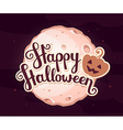 halloween of full light moon with craters an vector image vector image