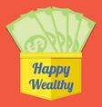 Happy Wealthy vector image vector image