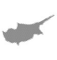 hexagon cyprus island map vector image vector image