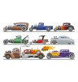hot rods car vintage classic vehicle vector image