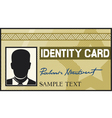 identity card vector image