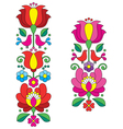 Kalocsai embroidery - Hungarian floral folk art vector image vector image