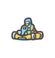 karting kart racer icon cartoon vector image vector image